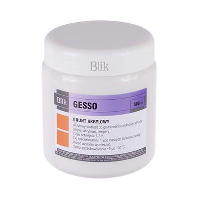 Gesso grunt akrylowy BLIK 500 ml
