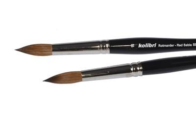 Pędzel okrągły włosie naturalne Kolibri 88 nr 2