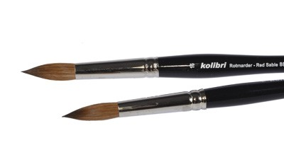 Pędzel okrągły włosie naturalne Kolibri 88 nr 4