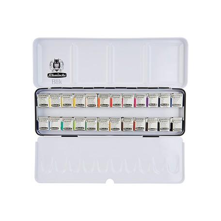 Zestaw farb akwarelowych Schmincke AKADEMIE 24 x 1/2 kostki