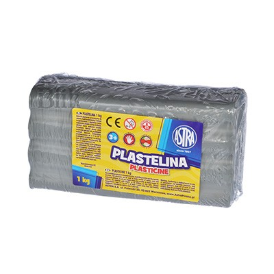 Plastelina szara 1 kg