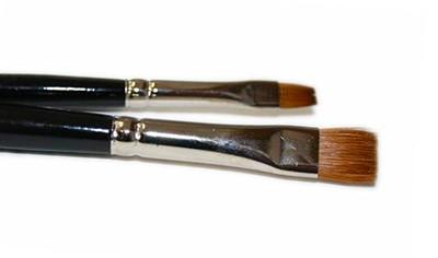 Pędzel płaski naturalne włosie Kolibri 788 nr 10