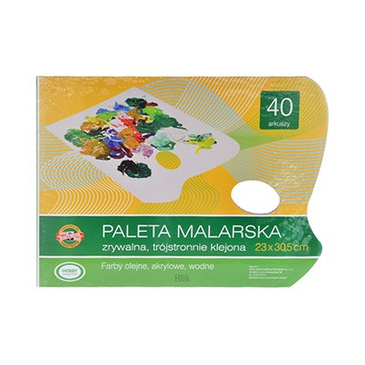 Paleta malarska papierowa olej i akryl