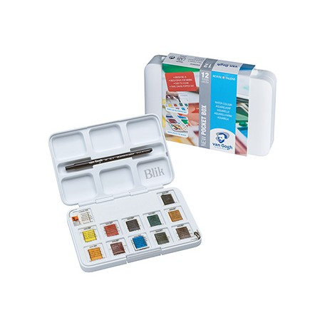 Zestaw farb akwarelowych Van Gogh 12 x 1/2 kostki