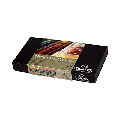 Zestaw farb akwarelowych Rembrandt 48 x 1/2 kostki