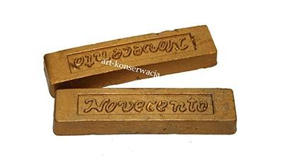 Pałeczka woskowa metaliczna złoto dukatowe