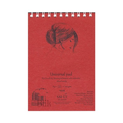 Szkicownik Art Creation 21 x 14,8 cm czerwona twarda okładka