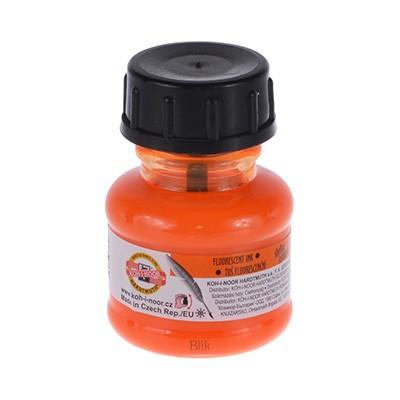 Tusz kreślarski Koh-i-noor pomarańczowy fluo