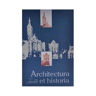 Książka Architectura et historia