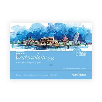 Blok akwarelowy Watercolour firmy Gamma 200g 15 ark. 12,5x18 cm