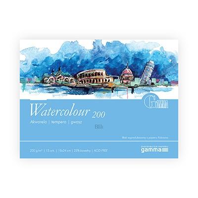 Blok akwarelowy Watercolour firmy Gamma 200g 15 ark. 18x24 cm