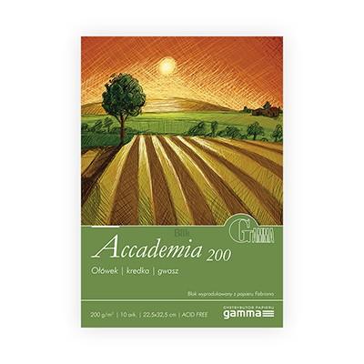 Blok Accademia firmy Gamma 200g 10 ark. 22,5 x 32,5 cm