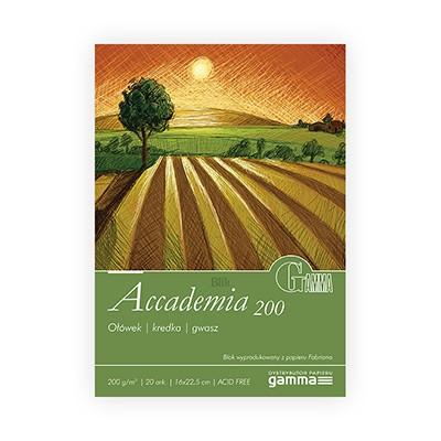 Blok Accademia firmy Gamma 200g 20 ark. 16 x 22,5 cm
