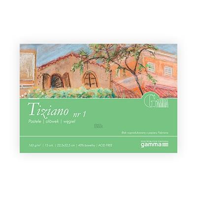 Blok z czarnymi kartkami Tiziano firmy Gamma 160g 15 ark. 22,5 x 32,5 cm