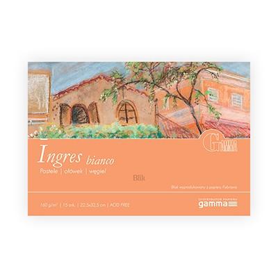 Blok do pasteli Ingres bianco firmy Gamma 160g 15 ark. 22,5x32,5 cm