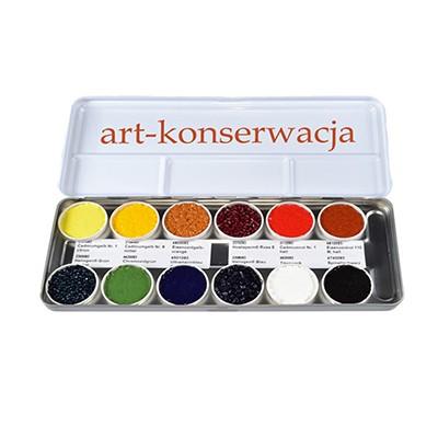 Farby retuszerskie zestaw Kremer 12 kolorow