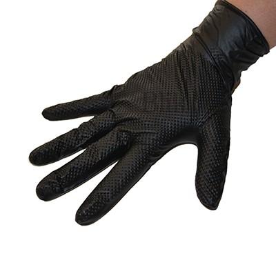 Rękawice ochronne nitrylowe 50 szt czarne power grip rozmiar XL