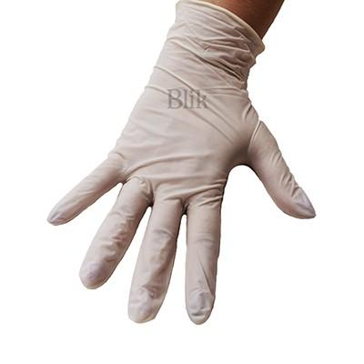 Rękawice ochronne lateksowe bezpudrowe 100 szt rozmiar M