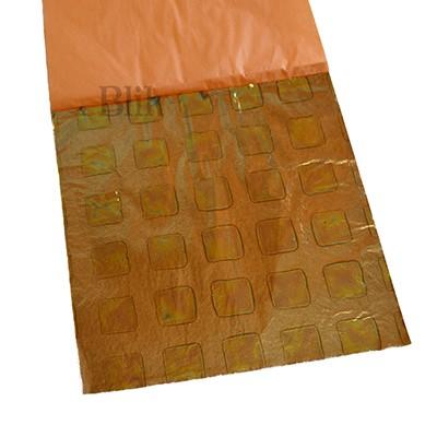 Szlagmetal oxydowany zielony kwadraty 03