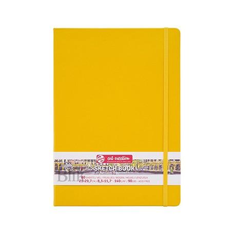 Szkicownik Art Creation 21 x 29,7 cm żółty twarda okładka